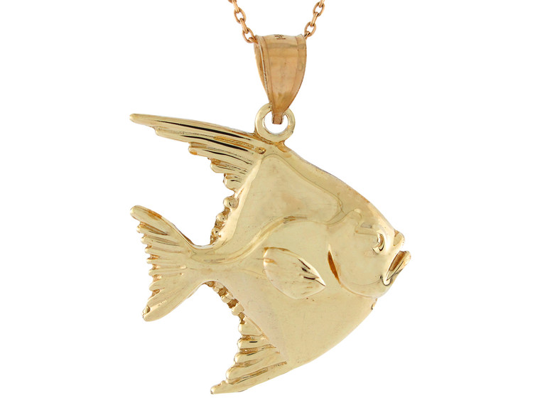 Polished Sea Life Fishing Gorgeous Swimming Fish Pendant (JL# P10740)