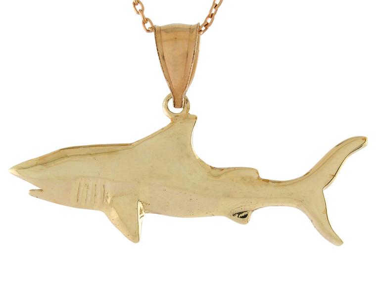 Polished Sea Life Fishing Stunning Shark Design Pendant (JL# P10744)