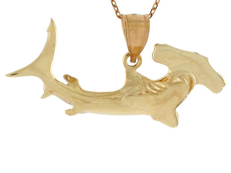High Polish Sea Life Fishing Hammer Shark Design Pendant (JL# P10745)