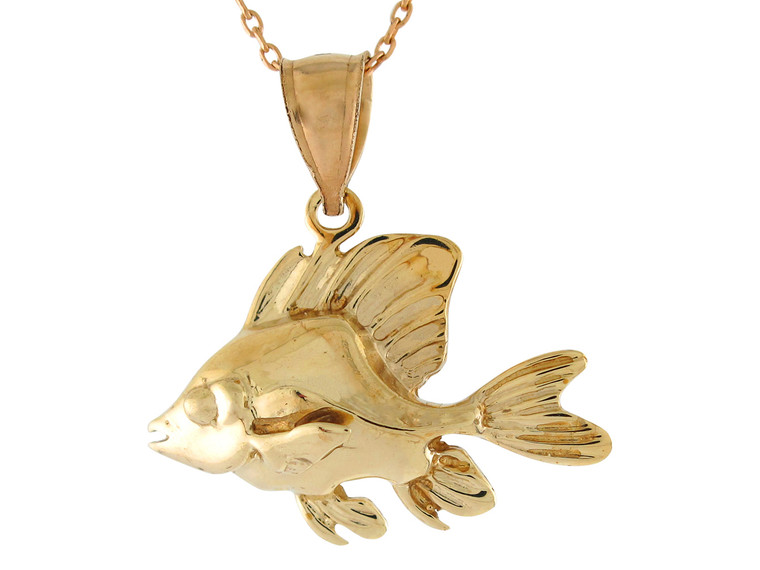 Sea Life Fishing Cute Swimming Fish Design Pendant (JL# P10749)