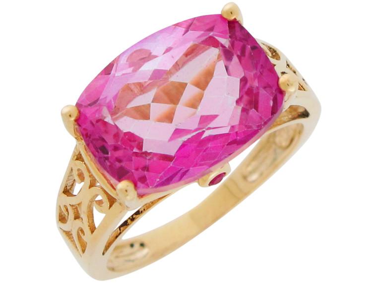 Bold Accented Ladies Classy Filigree Design Ring (JL# R10973)