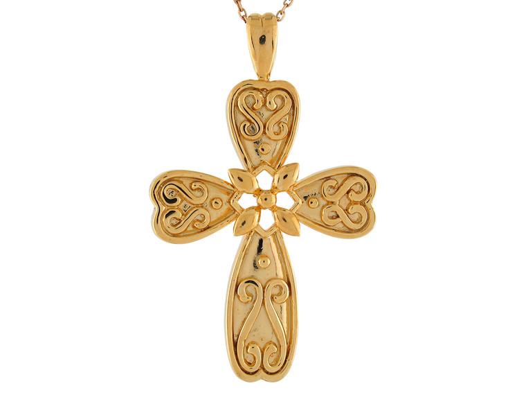 Magnificent Design High Polish Religious Cross Pendant (JL# P9547)