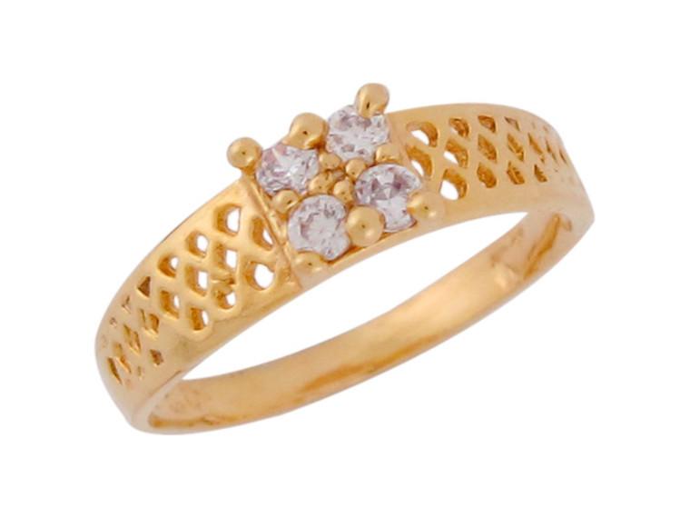 Real Cute Filigree Baby Cluster Ring (JL# R8827)