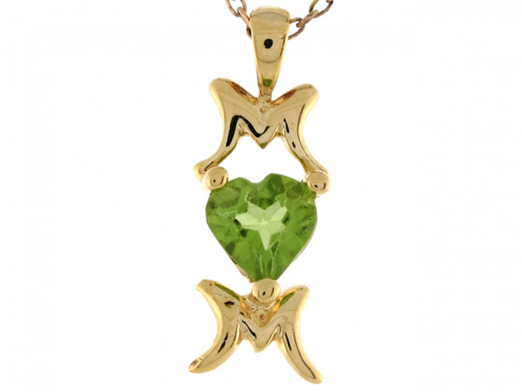 Gold Heart Shape Mom Special Ladies 2.03cm Pendant (JL# P7031)