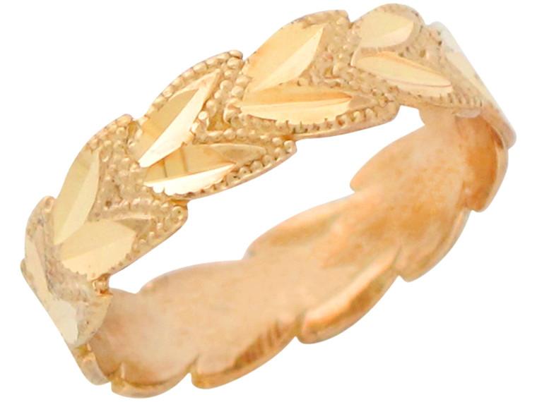Stunning Diamond Cut Ladies Leaf Wreath Gorgeous Ring (JL# R11164)
