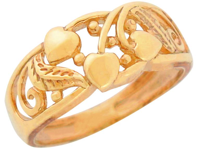 Real Beautiful Floral Vine Heart Love Design Ring (JL# R11112)