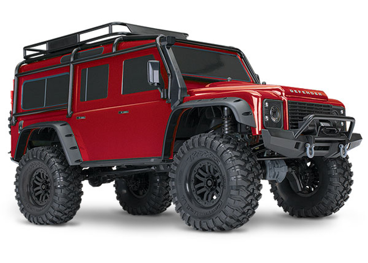 Traxxas TRX-4 1/10 Scale Trail Rock Crawler w/Land Rover Defender Body (Red)