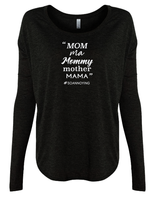 Mom Ma Mommy Mother Ladies Long Sleeve
