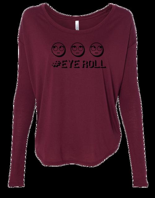 Eyeroll Ladies Long Sleeve