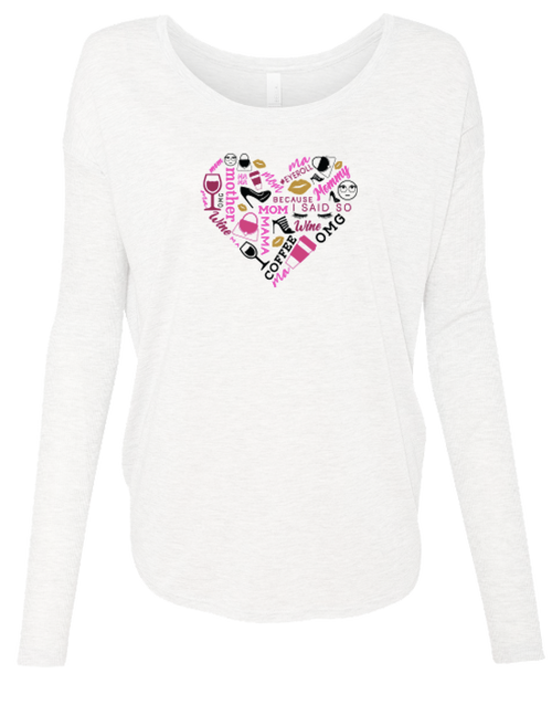 Heart Collage Ladies Long Sleeve