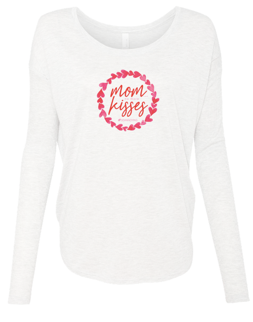 Mom Kisses Ladies Long Sleeve