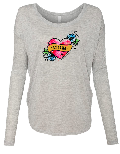 Mom Tattoo Ladies Long Sleeve