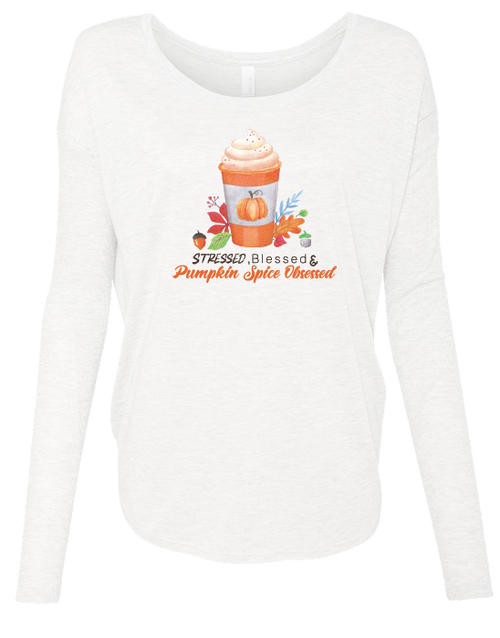 Pumpkin Spice Obsessed Ladies Long Sleeve