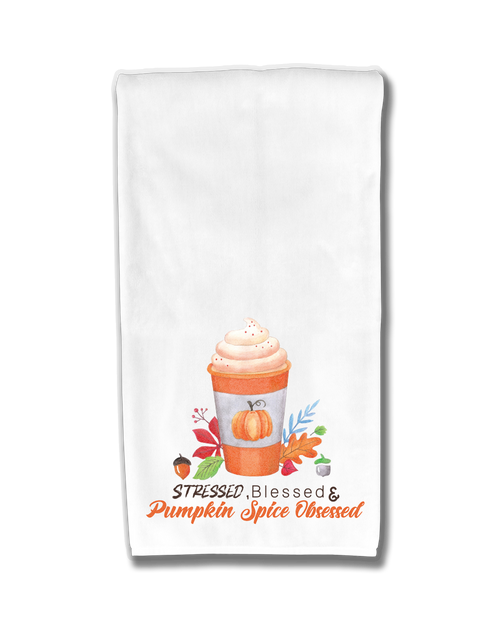 Pumpkin Spice Obsessed Kitchen Towel