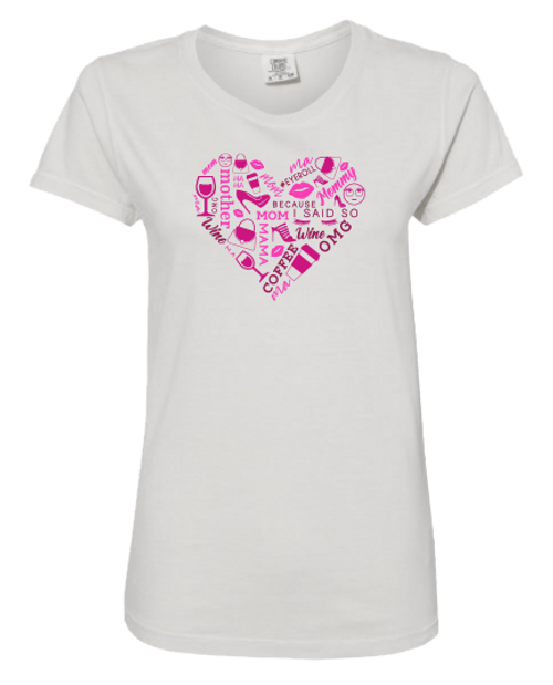 Pink Heart Collage T-Shirt