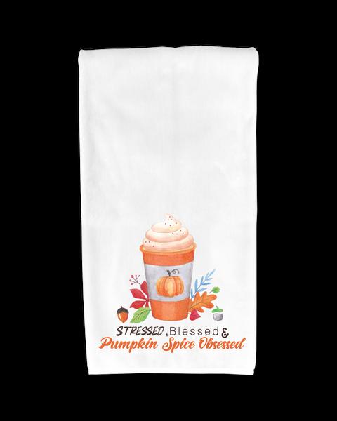 Pumpkin Spice Obsessed Kitchen Towel