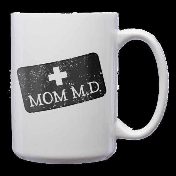 Mom M.D. White Mug