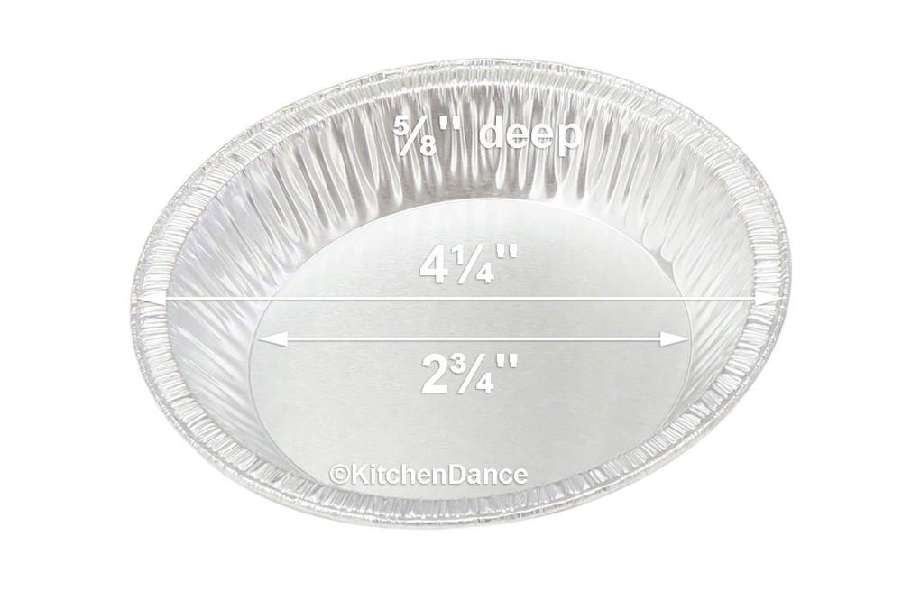 """disposable aluminum foil 4¼""""  tart pan, pie tin, mini pie pan, small baking pan"""