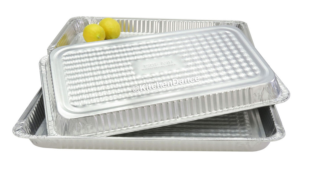 disposable aluminum foil full size shallow steam table pans, baking pans