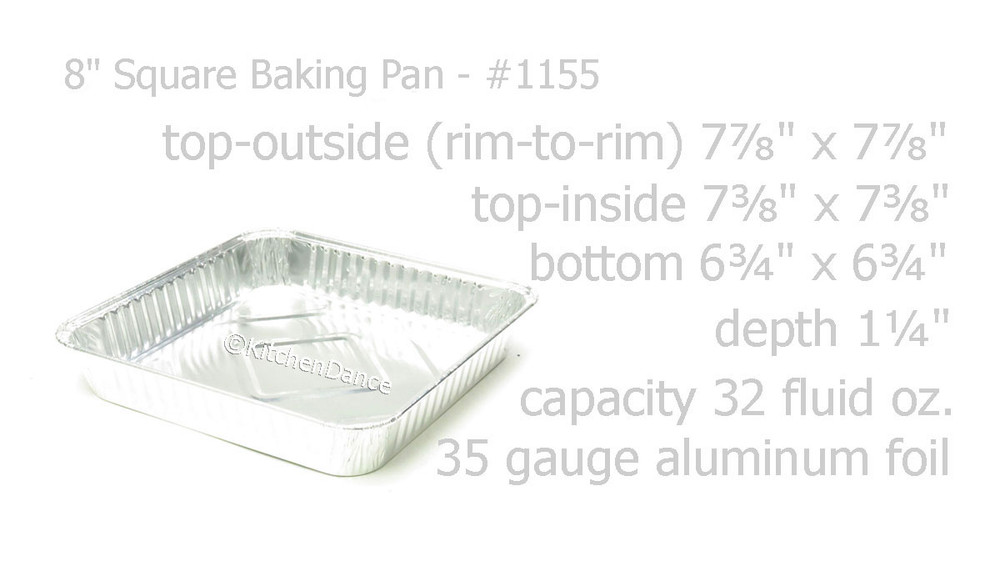 "disposable aluminum foil 8"" square cake pan, baking pan, food serving tray \ pan"