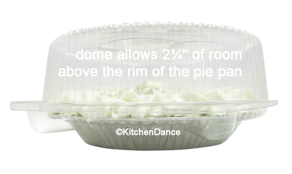 "8"" pie container - clear plastic clamshell - high dome"