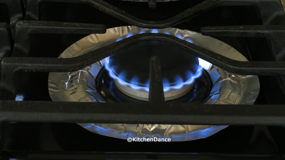 Round Gas-Stove Burner Foil Bib