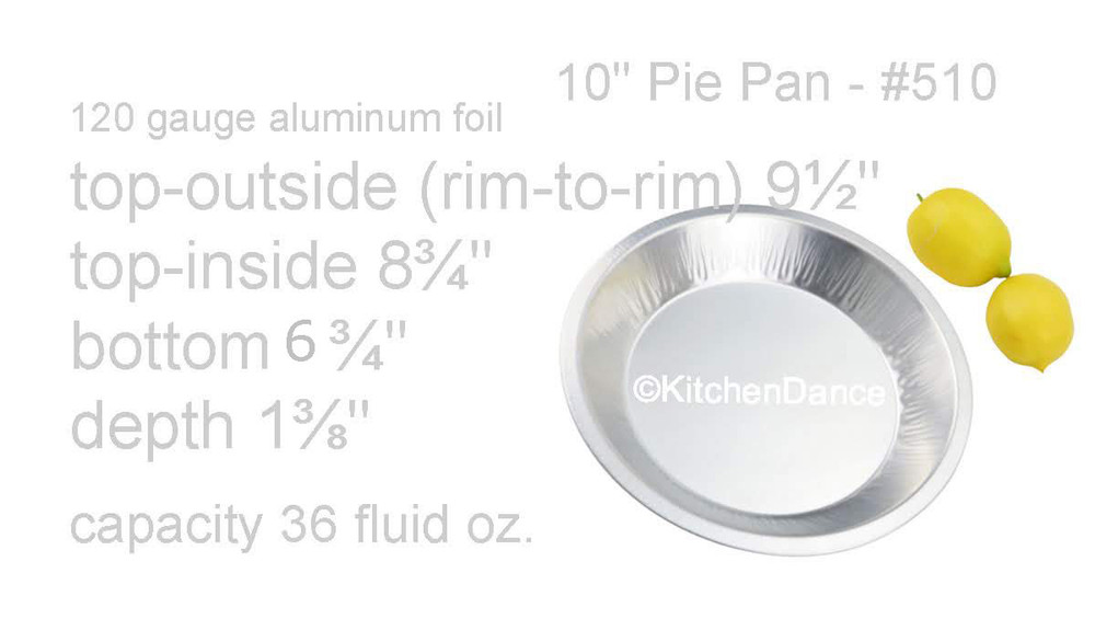 "Disposable Aluminum Foil Heavy Weight Deep 10"" Pie Pan"