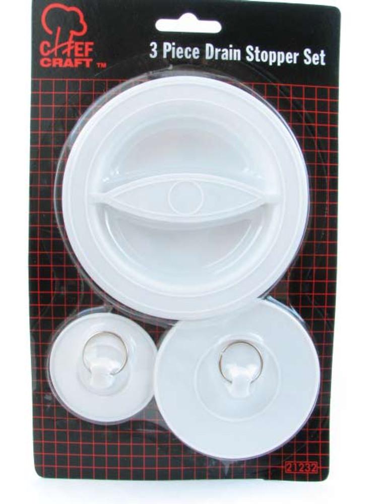 Flexible-Plastic Sink/Drain Stopper Set