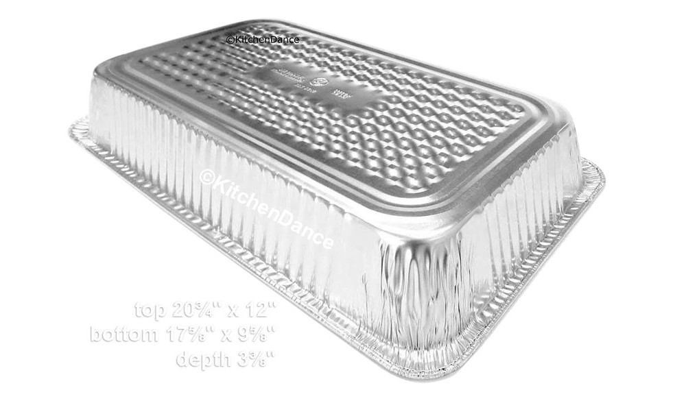 disposable aluminum foil full size deep steam table pan, baking pan, food serving ban,  food storage pan