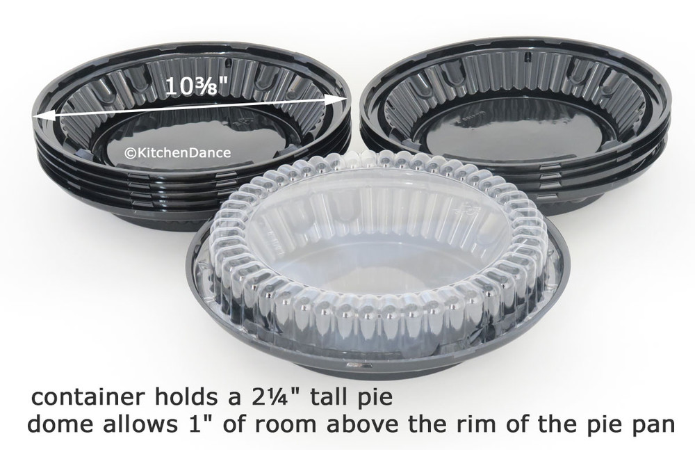 """9"""" Two-Piece Pie Container with Low Dome Lid"""