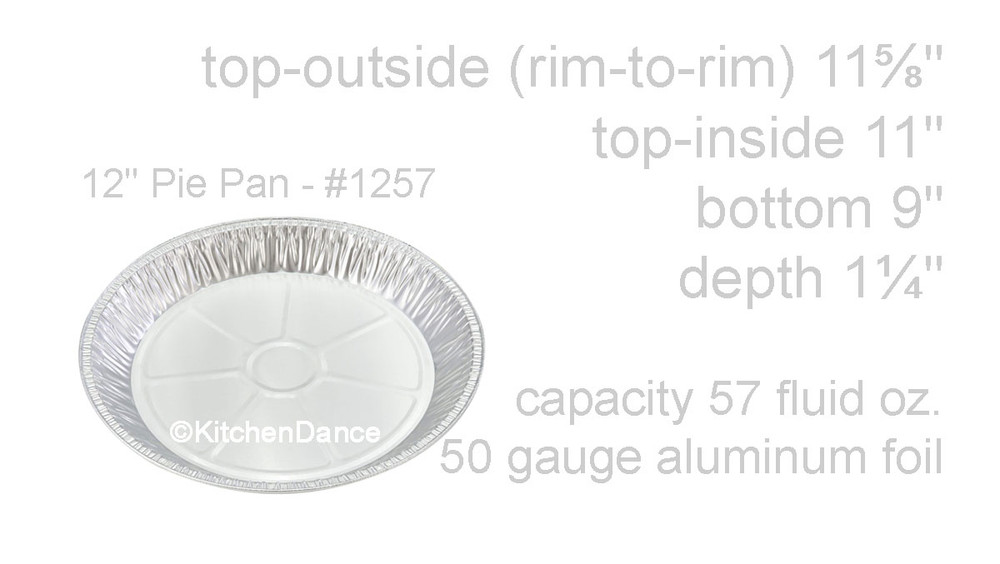 "disposable aluminum foil 12"" pie pan, baking pan"