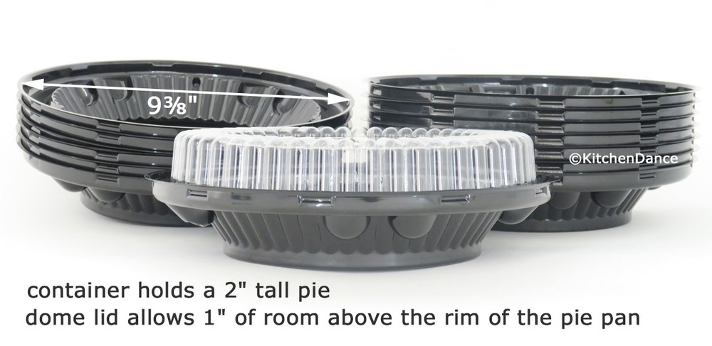 "8"" two piece low dome plastic pie container"