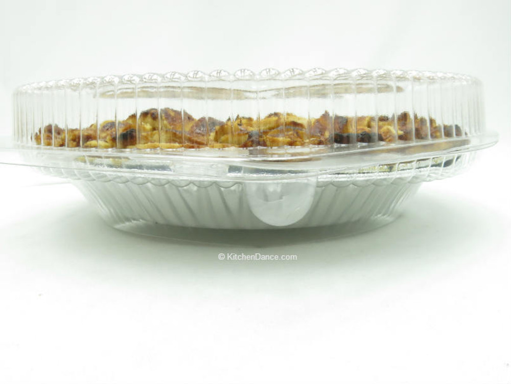"""10"""" pie container - clear plastic clamshell - low dome"""