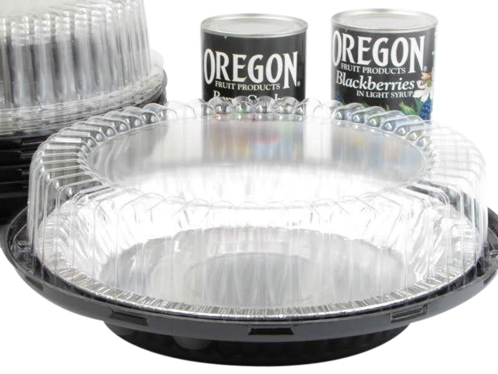 "9"" pie container - a high dome 2 piece plastic set"