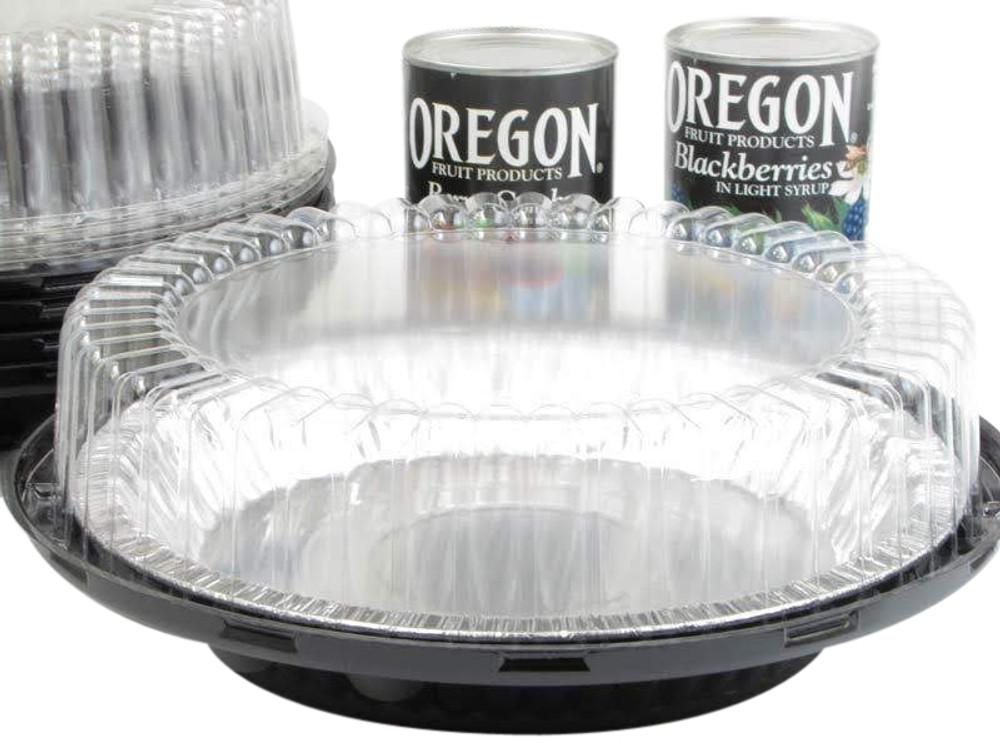 "9"" pie container - a high dome 2 piece plastic set"
