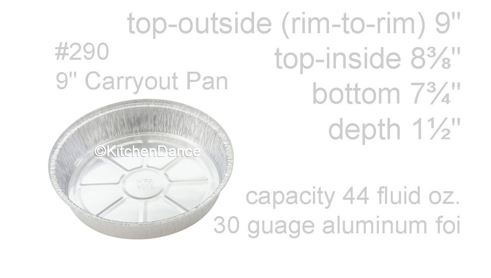 "disposable aluminum foil 9"" carryout/takeout pans, baking pans, food serving pan"