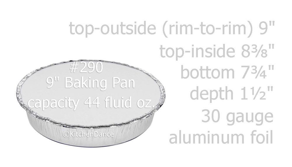 "disposable aluminum foil 9"" carryout pan, takeout pan, baking pan, food storage container with a board lid"