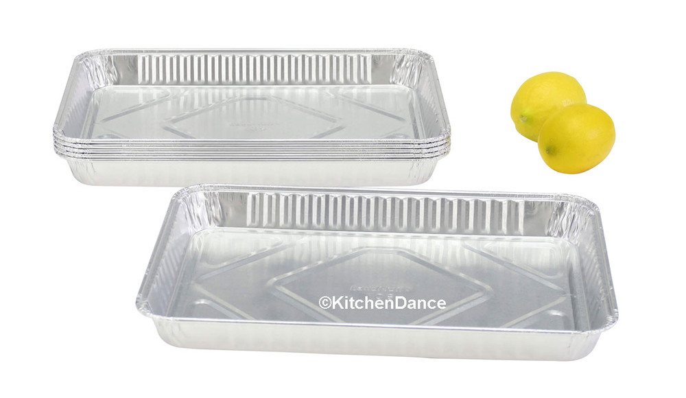 disposable aluminum foil a quarter size sheet cake pans, baking pans