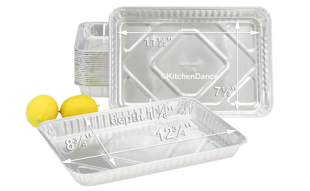 disposable aluminum foil a ¼ size sheet cake pans, baking pans