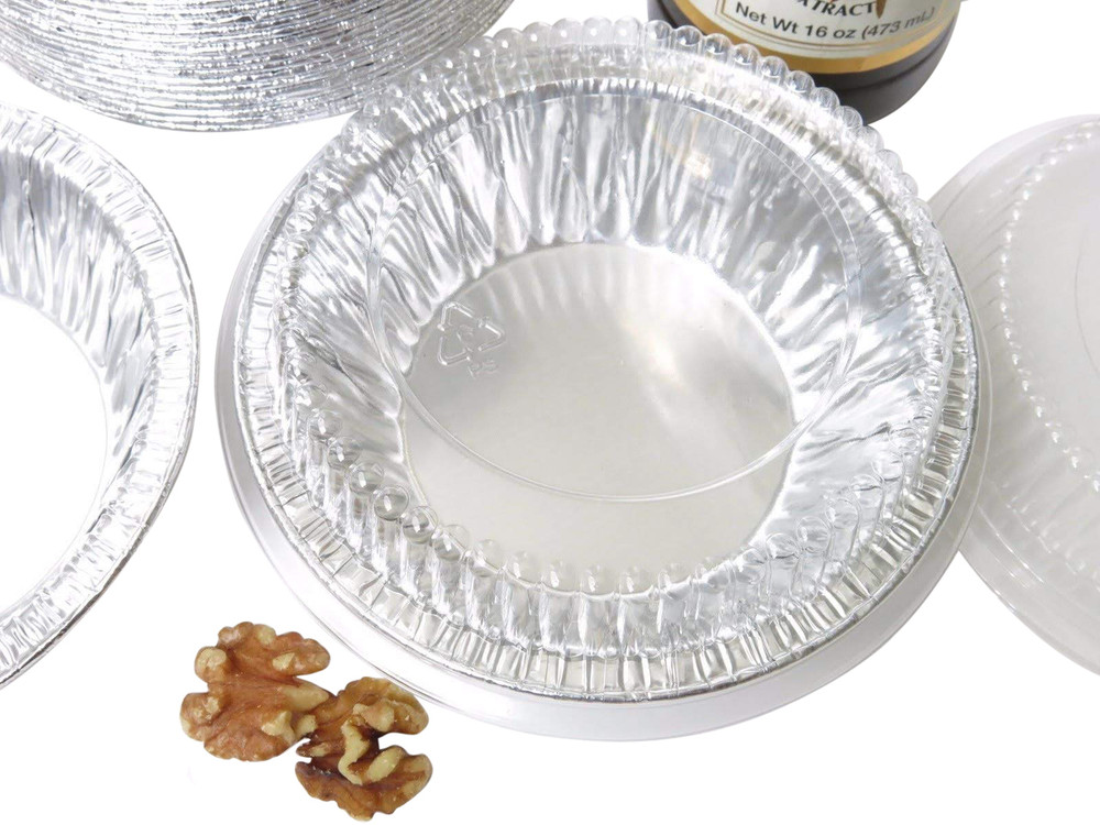 "disposable aluminum foil 5"" small pie / tart pan, pie tin"