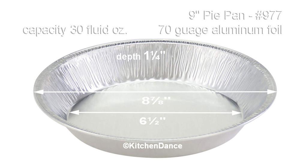 "disposable aluminum foil 9"" pie pan, heavy weight baking pan"