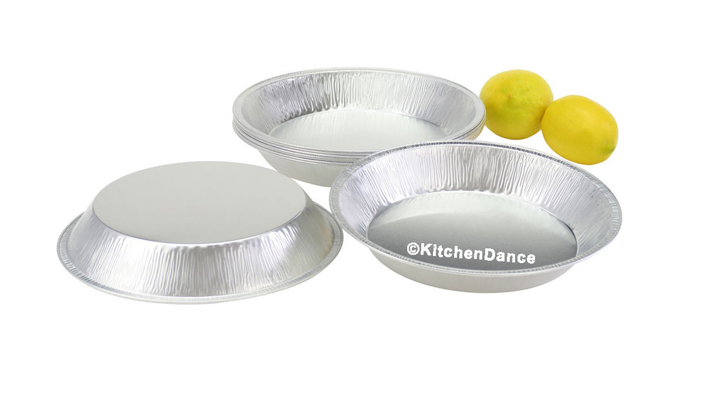 "disposable aluminum foil 9"" pie pan, heavy weight baking pan"
