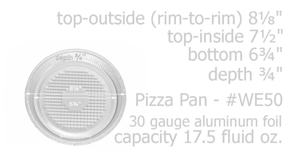 disposable aluminum foil small pizza pan with lid, individual serving size, round baking pan