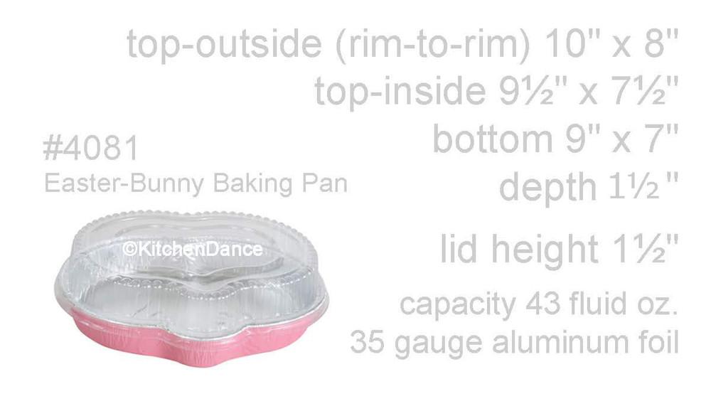 Disposable Aluminum Foil Easter Bunny Shaped Pan