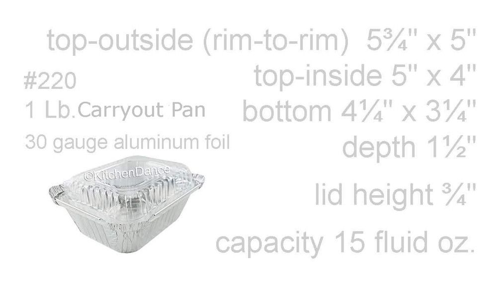 Disposable Aluminum Foil 1lb. Carryout Pan