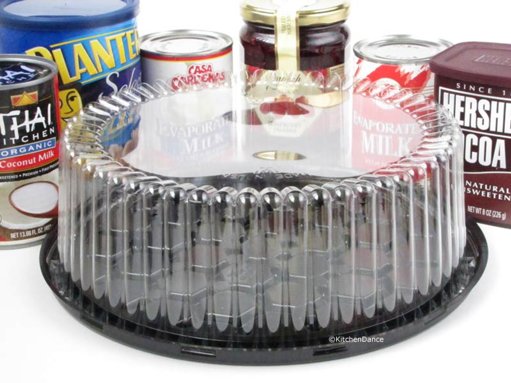 """9"""" Plastic Display Cake Container - for 1-2 layers"""