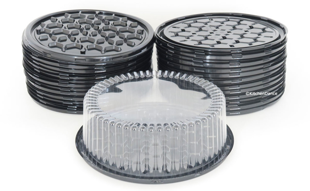 "9"" Plastic Display Cake Container - for 1-2 layers"