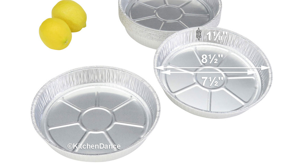 "disposable aluminum foil 8"" round shallow baking pan, cake pan"