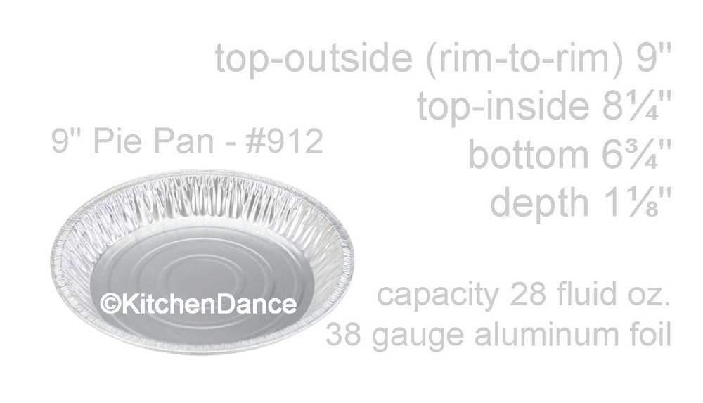 "disposable aluminum foil 9"" pie pans - deep baking pans"