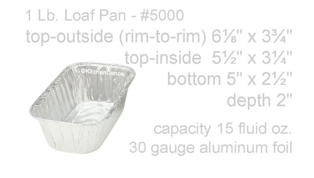 disposable aluminum foil one pound loaf pans, baking pans, food containers
